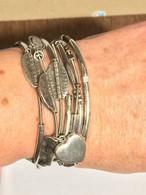 7 Bracelets GAS Argent Poids 48 Grammes. - Bracelets