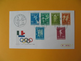FDC Luxembourg   1968  Prélude Aux Jeux Olympiques De Mexico  N° 716 à 721 - FDC