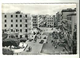 """4337 """"ANZIO-PIAZZA GARIBALDI"""" ANIMATA - AUTO ANNI '40/50-CART. POST ORIG..SPEDITA - Altre Città"""