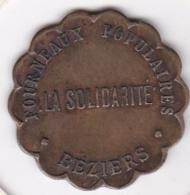 34. Hérault. Béziers. La Solidarité. Fourneaux Populaires 5 Centimes - Monétaires / De Nécessité