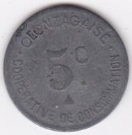 34. Hérault. Olonzac. Coopérative De Consommation Olonzagaise 5 Centimes 1918, Zinc - Monetary / Of Necessity
