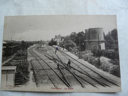 CPA 45 LOIRET - PITHIVIERS : La Gare (cheminots) - Pithiviers