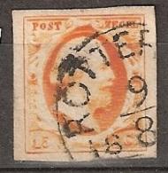 1852 Koning Willem III 15 Ct.  NVPH 3 LUXE - Period 1852-1890 (Willem III)
