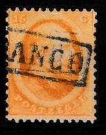 1864 Koning Willem III 15 Ct.  NVPH 6 - Gebraucht