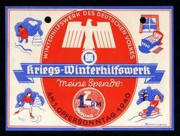J46-GERMAN EMPIRE-.MILITARY PROPAGANDA German CARD WINTER WAR HELP.1940.WWII.DEUTSCHES REICH.karte.Carte - 1939-45