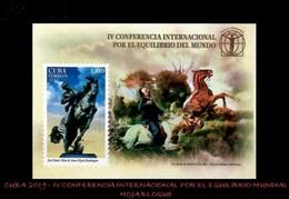 CUBA/KUBA 2019 IV CONFERENCIA INTERNACIONAL POR EL EQUILIBRIO DEL MUNDO SOUVENIR SHEET MNH - Cuba