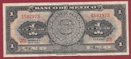 Mexique 1 Peso 10/05/ 1967 Dans L 'état - México