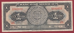 Mexique 1 Peso 10/05/ 1967 Dans L 'état - Mexico