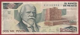 Mexique 2000 Pesos Du 28/03/1989 (Sign #) Dans L 'état - México