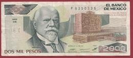 Mexique 2000 Pesos Du 24/02/1987  Dans L 'état - México