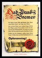 J51-GERMAN EMPIRE-.MILITARY PROPAGANDA German CARD VICTIMS Thanks BREMEN.WWII.DEUTSCHES REICH.karte.Carte - 1939-45