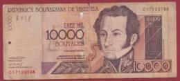 Venezuela 10000 Bolivares Du 16/08/2001 Dans L 'état - Venezuela