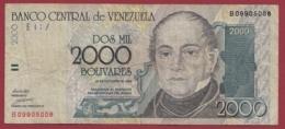 Venezuela 2000 Bolivares Du 29/10/1998 Dans L 'état - Venezuela