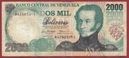 Venezuela 2000 Bolivares Du 16/06/1997 Dans L 'état - Venezuela