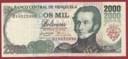 Venezuela 2000 Bolivares Du 10/02/1998 Dans L 'état - Venezuela