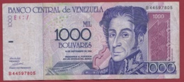 Venezuela 1000 Bolivares Du 10/09/1998 Dans L 'état - Venezuela