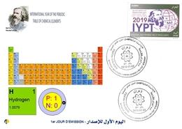 DZ Algeria 1836 2019 Anno Internazionale Della Tavola Periodica Degli Elementi Chimici Dmitry Mendeleev Chimica Idrogeno - Chimica