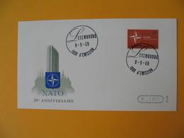 FDC Luxembourg   1969 Nato 20è Anniversaire Atlantique Nord  N° 744 - FDC