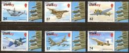 Jersey 2007 Yvertn° 1360-65 (°) Oblitéré Used Cote 14 Euro Avions Vliegtuigen Aviation - Jersey