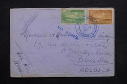 CUBA - Enveloppe De La Conférence De L 'O.N.U. En 1948 Pour Bruxelles , Oblitération Plaisante - L 32692 - Cuba