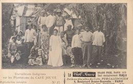 Travailleurs Indigènes Sur Les Plantions De Cefé Jouve    ///   REF  JUIN .19  / N° 8935 - Nouvelle-Calédonie