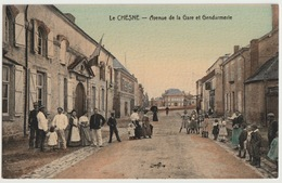 27 - LE CHESNE - AVE DE LA GARE ET GENDARMERIE - France