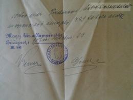 KA409.7 Hungary Budapest - Judaica - Guttman Náthán - 1906 - Unclassified