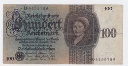 Billet De 100 Reischmark Pick 178  Du 11_10_1924 - [ 3] 1918-1933: Weimarrepubliek