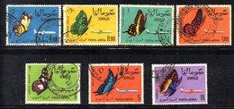 APR492 - SOMALIA 1961 , Yvert N. 8/14  Usato . FARFALLE PAPILLON - Somalia (1960-...)