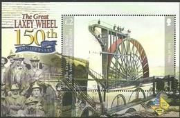 Île De Man  2004 Yvertnr. Bloc 57 *** MNH Cote 10 Euro Normandie Laxey Wheel Sindelfingen - Man (Ile De)