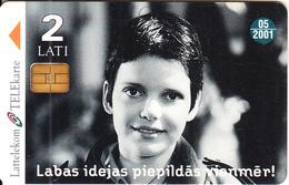 LATVIA - Girl, Hansa Bank, Exp.date 05/01, Used - Letland