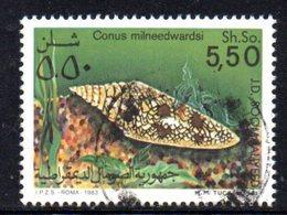 APR853 - SOMALIA 1984 , Yvert N. 307  Usato . CONCHIGLIE  CONUS - Somalia (1960-...)