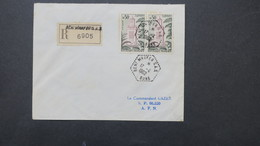 Lettre Recommandé Algerie Avril 1962   Obliteration Beni Mhafer SAS ( Bône ) Pour Le SP 86520 - Algérie (1924-1962)
