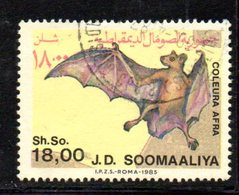 APR853 - SOMALIA 1985 , Yvert N. 332  Usato . PIPISTRELLO - Somalia (1960-...)