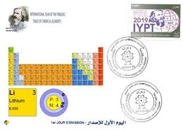 DZ Algeria 1836 2019 Anno Internazionale Della Tavola Periodica Degli Elementi Chimici Dmitry Mendeleev Chimica Litio - Chimica