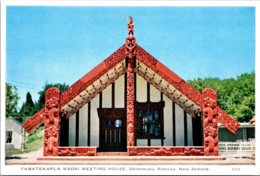New Zealand Rotorua Ohinemutu Tamatekapua Mori Meeting House - New Zealand