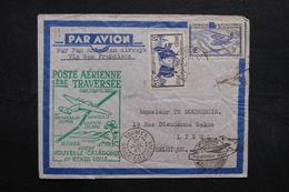 NOUVELLE CALÉDONIE - Enveloppe 1er Vol De Nouméa Pour La Belgique En 1940 Avec Contrôle Postal, à Voir - L 32698 - New Caledonia