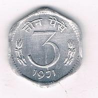 3 PAISE 1971  INDIA /4824/ - Inde