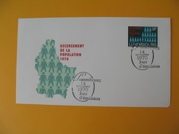 FDC Luxembourg   1970   Recensement De La Population  N° 761 - FDC