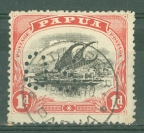 Papua New Guinea: 1908/10   Official - Lakatoi - Punctured 'OS'    SG O22     1d      Used - Papua New Guinea