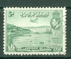 Papua New Guinea: 1938   Air - 50th Anniv Of Declaration Of British Possession    SG165    5d     Used - Papua New Guinea