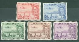 Papua New Guinea: 1939   Air - Pictorial Set    SG163-167    MH - Papua New Guinea