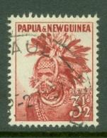 Papua New Guinea: 1952/58   Pictorial    SG6    3½d   Carmine-red     Used - Papua New Guinea