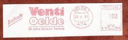 Ausschnitt, Francotyp-Postalia B02-2646, Venti, 100 Pfg, Oelde 1991 (75282) - [7] République Fédérale