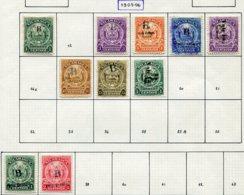 13345 NICARAGUA (Bluefield) Collection Vendue Par Page N°41, 43/9, 57/8 (*)/ °   1905  B/TB - Nicaragua