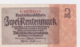 Billet De 2 Rentenmark Pick 174  Du 30-1_1937    Neuf - [ 3] 1918-1933 : República De Weimar