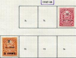 13346 NICARAGUA (Bluefield) Collection Vendue Par Page N°72/3, 80, 93a, 94  (*)/ °   1907-08  B/TB - Nicaragua