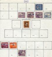 13344 NICARAGUA (Bluefield) Collection Vendue Par Page N°4, 7/10, 12, 16/7, 22 °  1904  B/TB - Nicaragua