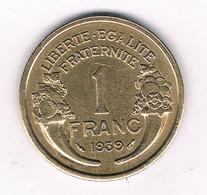 1 FRANC 1939 FRANKRIJK /4830/ - France
