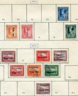 13341 NICARAGUA Collection Vendue Par Page Télégraphe Entre 84 Et 115°/(*)/* 1905-11  B/TB - Nicaragua